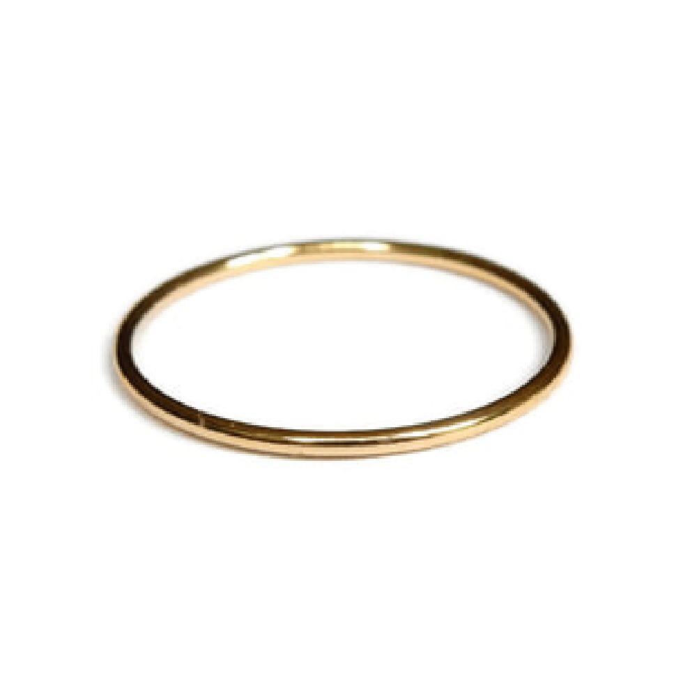 Gnoes   Ring glad gold filled