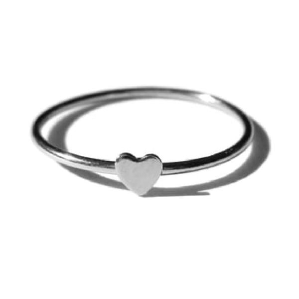 Gnoes   Ring hartje sterling zilver