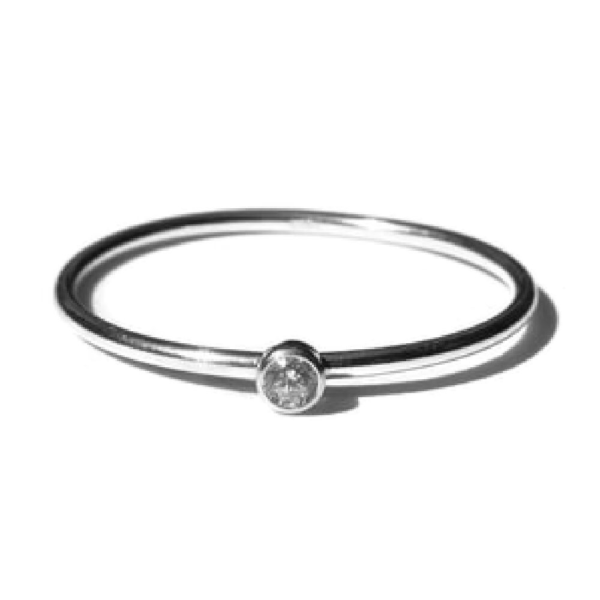 Gnoes   Ring witte zirkonia sterling zilver