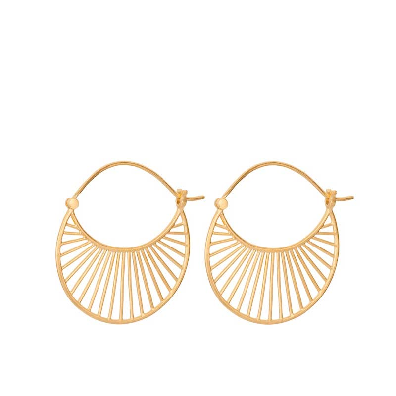 Large Daylight earrings gold plated | Pernille Corydon