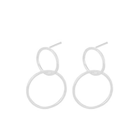 Double earrings Silver | Pernille Corydon