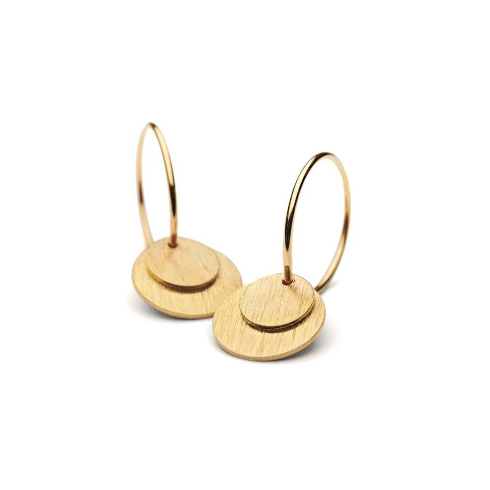 Small coin earrings gold plated | Pernille Corydon