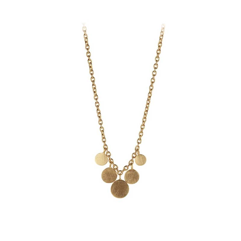 Mini coin Necklace gold plated | Pernille Corydon