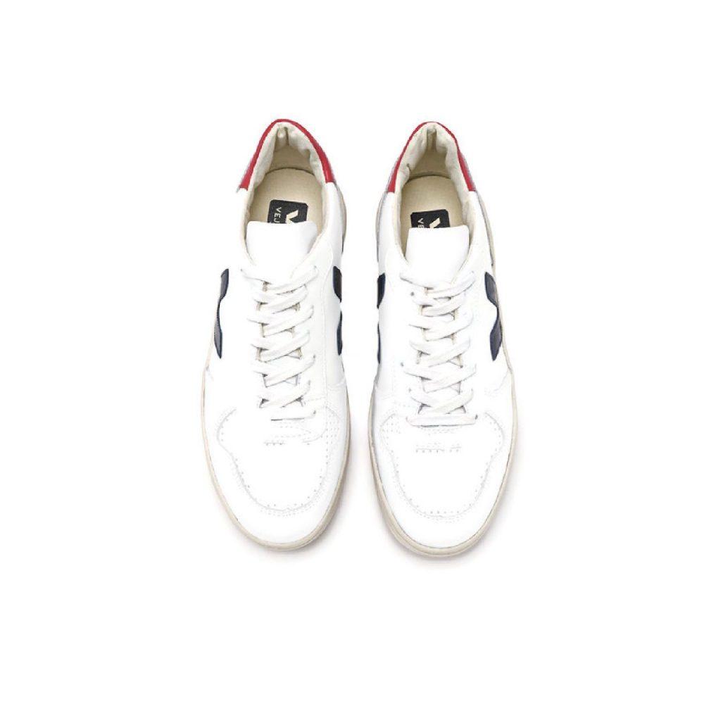 VEJA V-10 Leather extra-white nautico pekin Radijs conceptstore