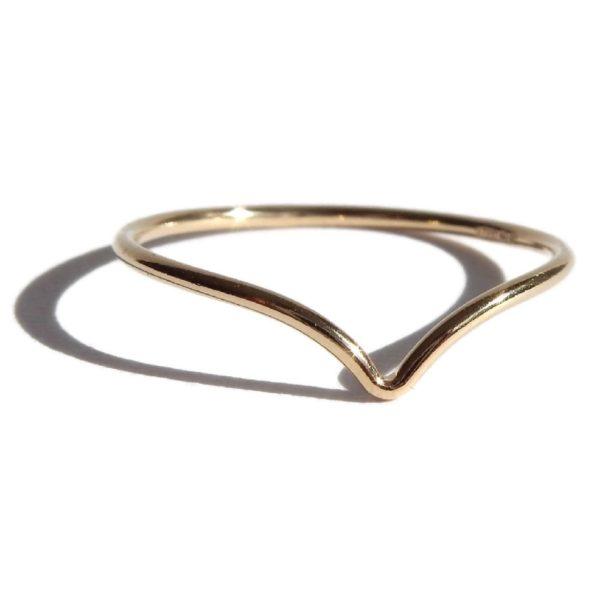 Gnoes   Ring met V gold filled