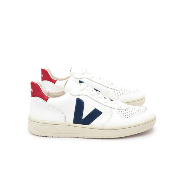 VEJA V-10 Leather extra-white nautico pekin