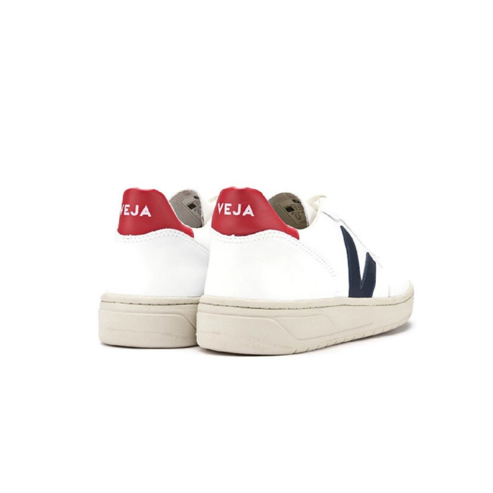 VEJA V-10 Leather extra-white nautico pekin Radijs