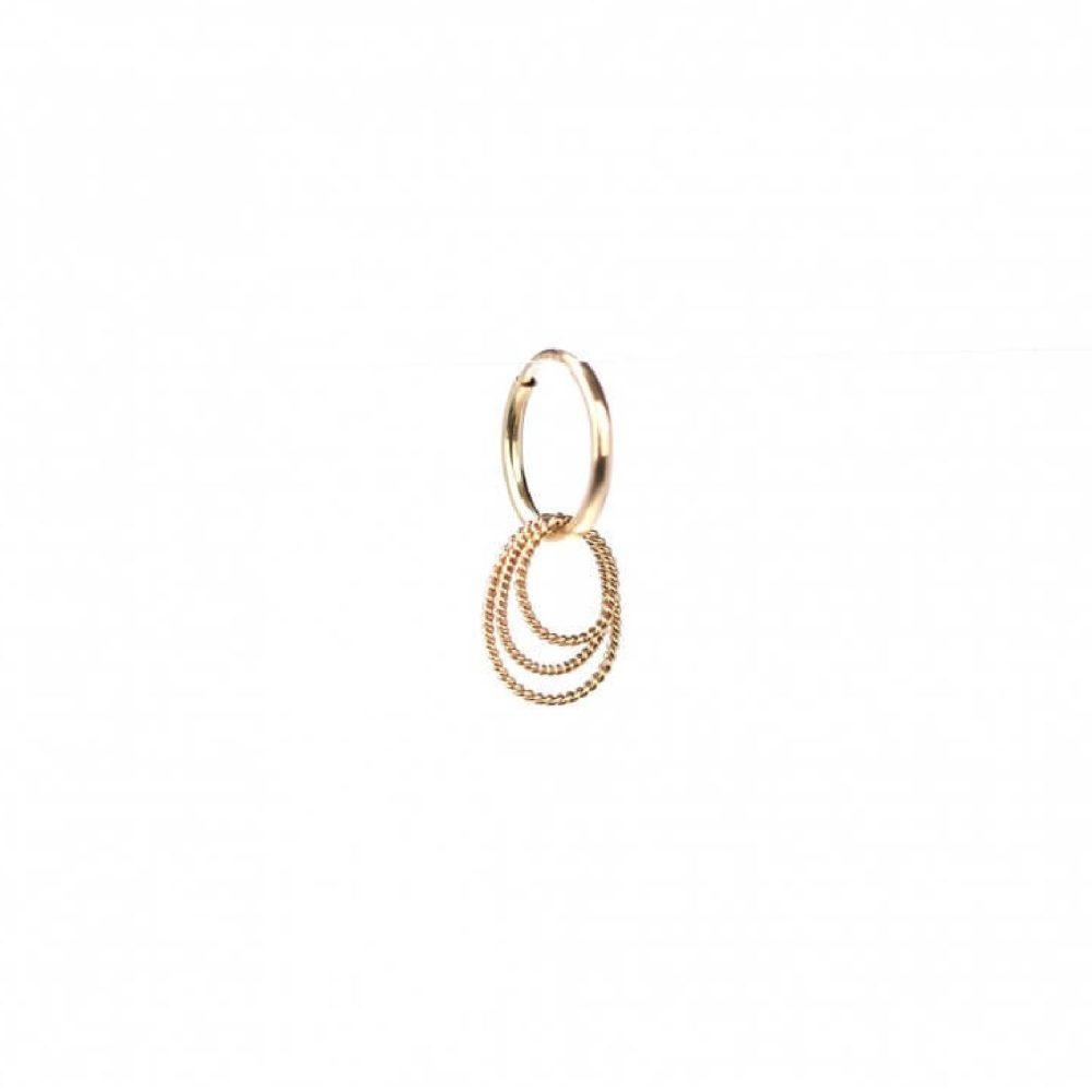 Twisted Oval Hoops Earring | ÆVA Amsterdam
