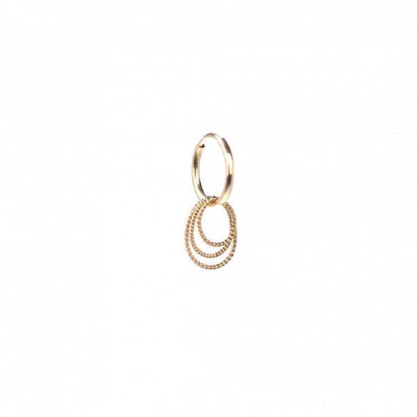 Twisted Oval Hoops Earring   ÆVA Amsterdam