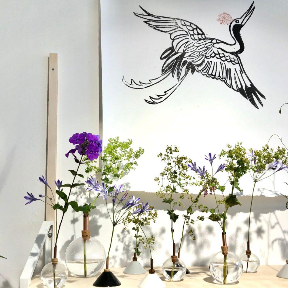 NA Design Poster kraanvogel
