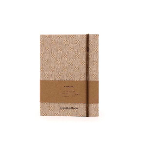Notebook S vintage linen Monk&Anna