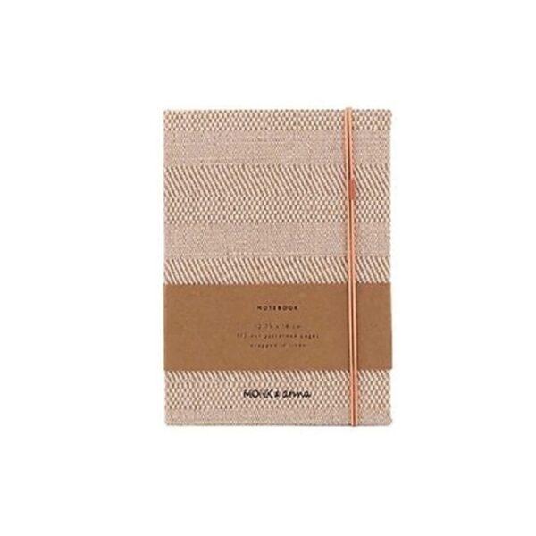 Notebook S Structured linen Monk&Anna